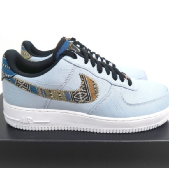 Nike Air Force One '07 LV 8 Blue Low Sneaker 9.5M